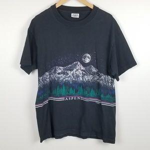 Vintage Aspen Colorado Graphic Tee Shirt Size XL